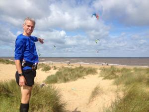 Ed from running club points out the kite-surfers at Hunstanton. Running is so much easier with company! Otherwise the mind has a tendency to wander...