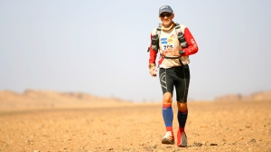 Look at Rory go! He's done 11 Marathon des Sables. I'd better listen to him...