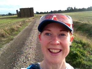 Happy to be outside in the fields around Barnack on Saturday's steady 10 miler without a HR monitor