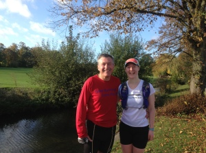 Me and Brian from Stamford Striders, smug to have run 10 miles and be back in town before most other people have woken up! Great way to start a Sunday!