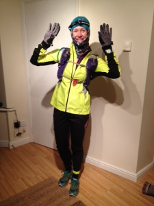 So fed up of getting cold (cursing coach Rory for making me lose my 1.5 stone of body fat insulation!) I dressed like a scuba diver for this Wednesday's run home. Windproof Helly Hansen tights and warm thermal, Sealskinz waterproof gloves, Marmot hat, the lot! Yes I got too hot.