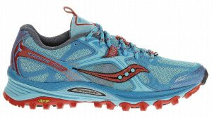 Comfy for 20 miles straight from the box! Saucony's Exodus 5, they got 9/10 in Trail Running magazine's latest shoe review