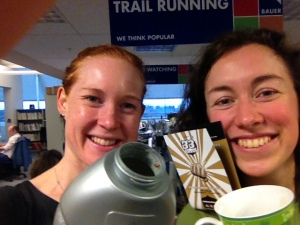 Trail Running mag's ed Claire and staffer Sarah try the 33 Shake Endurance Nutrition drink