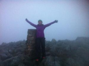 Bad weather on an unknown summit