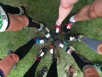 Trail shoes in at the start