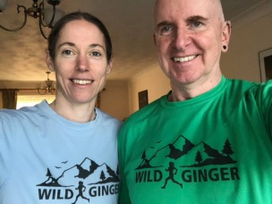 Hugo Kramer and his wife modelling the tees